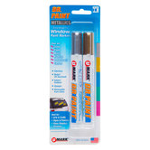 Metallic Gold & Silver Reversible Tip Metallic Paint Markers - 2 Piece Set